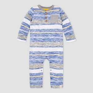 Burt's Bees Baby Baby Boys' Striped Romper - Blue