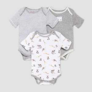 Burt's Bees Baby Baby Boys' 3pk Koala Bodysuit Set - Gray