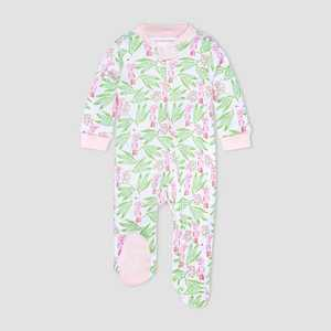 Burt's Bees Baby Baby Girls' Island Bird Sleep N' Play - Pink/Yellow