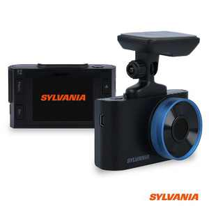 Sylvania Roadsight Plus Dash HD 1080p Camera with 120 Degree View, Hit Collision Detection, Night Vision, and Mobile App Enabled, Black