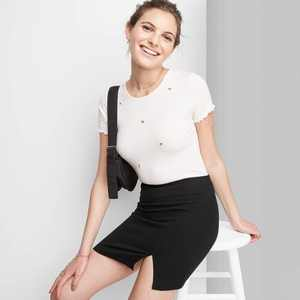 Women's Notch Front A-Line Mini Skirt - Wild Fable