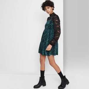 Women's Sleeveless Tiered Velvet Dress - Wild Fable