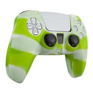 Insten Silicone Skin Cover Case Compatible with Sony PlayStation PS5 Controller, Camouflage Green White