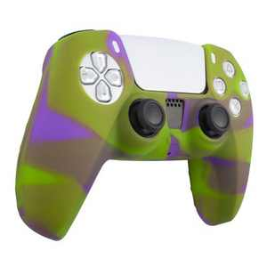 Insten Silicone Skin Cover Case Compatible with Sony PlayStation PS5 Controller, Camouflage Green Purple