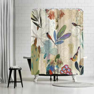"Americanflat Where The Passion Flower Grows I by Pi Creative Art 71"" x 74"" Shower Curtain"