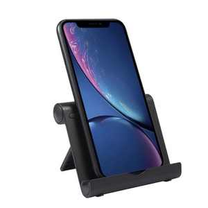 Insten Cell Phone Stand for Desk - Ergonomic Mount & Holder Compatible with Smartphones, iPhone, iPad, Tablet, Nintendo Switch, Black