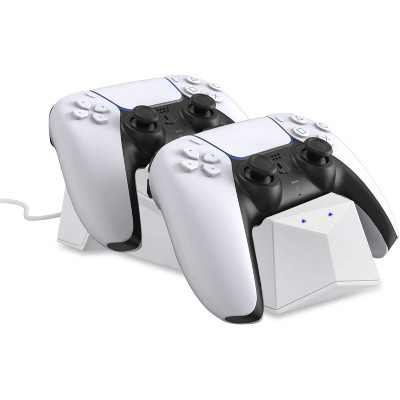 Wasserstein Charging Station for Sony Playstation 5 (PS5) DualSense Controller with LED Light Indicator and Dual Charging Slots