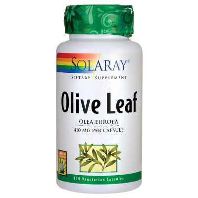 Solaray Herbal Supplements Olive Leaf 410 mg Capsule 100ct.