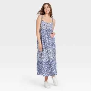 The Nines by HATCH Sleeveless Tiered Maternity Dress