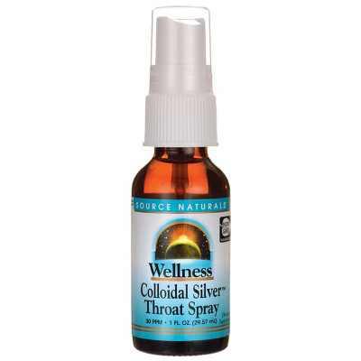 Source Naturals Colloidal Silver Throat Spray 30 ppm 1 fl oz Liquid