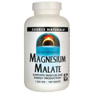 Source Naturals Mineral Supplements Magnesium Malate Tablet 180ct.
