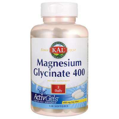Kal Mineral Supplements Magnesium Glycinate 400 400 mg Softgel 120ct