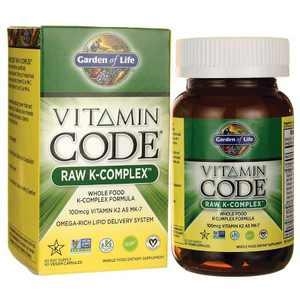 Garden of Life Mineral Supplements Vitamin Code Raw K-Complex Capsule 60ct.