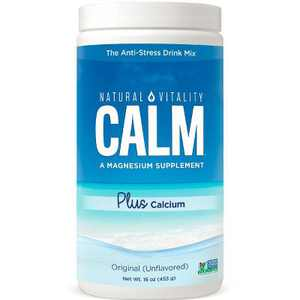 Natural Vitality Mineral Supplements Calm Plus Calcium Original Powder - Unflavored 16 oz
