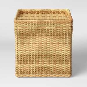 Wicker Storage Patio Accent Table - Threshold