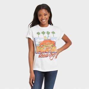 Women's The Beach Boys Beach Short Sleeve Graphic T-Shirt - White