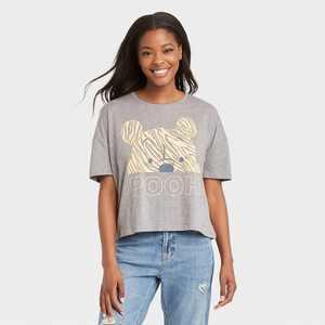 Women's Winnie the Pooh Short Sleeve Graphic T-Shirt - Gray