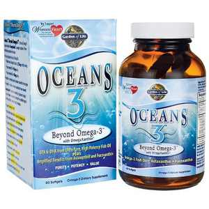 Garden of Life Omegas And Fish Oil Oceans 3 Beyond Omega-3 Softgel 60ct