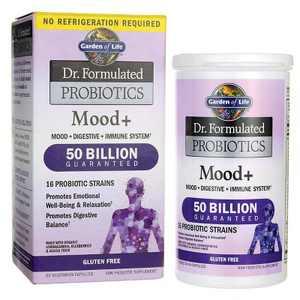 Garden of Life Probiotics Dr. Formulated Probiotics Mood+ 50 Billion Cfu Capsule 60ct