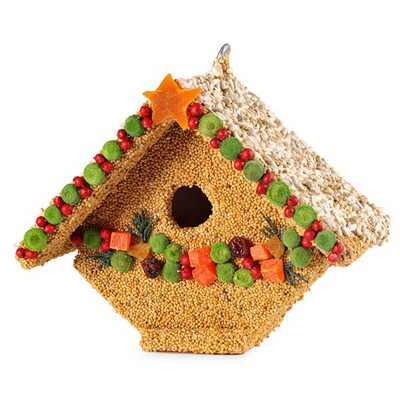 "Home & Garden 6.0"" Fruit Casita Christmas Bird Seed House Mr Bird  -  Bird And Wildlife Food"