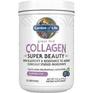 Garden of Life Protein Powders Grass Fed Collagen Super Beauty Powder - Blueberry Acai 9.52 oz