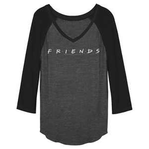 Junior's Friends Classic TV Logo Baseball Tee