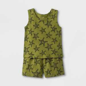 Grayson Mini Baby Boys' Starfish Top & Shorts Set - Green
