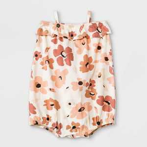 Grayson Mini Baby Girls' Daisy Bubble Romper - White