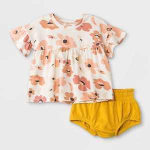 Grayson Mini Baby Girls' 2pc Daisy Top & Bottom Set - White