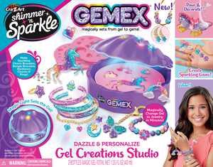 Cra-Z-Art Shimmer N Sparkle Gemex Gel to Gems Magic Shell Girls Jewelry Making Play Set