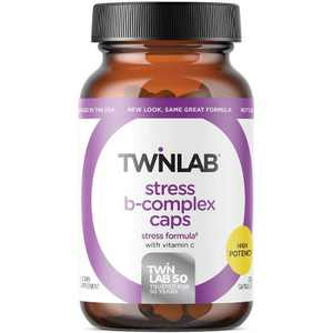 Twinlab Vitamin B Stress B-Complex Caps with Vitamin C Capsule