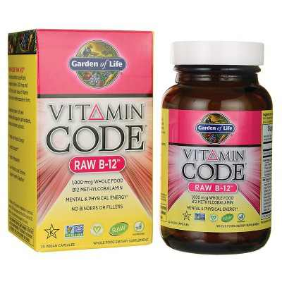 Garden of Life Vitamin B Vitamin Code Raw B-12 Capsule 30ct.