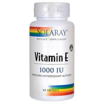 Solaray Vitamin E 1,000 Iu Softgel 60ct