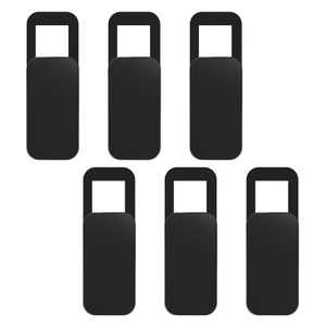 INSTEN - 6 pack Webcam Cover Ultra Thin Adhesive, Slide Cap, Protect Lens and Privacy, Compatible with Laptop Tablet iPhone iPad, Rectangle, Black