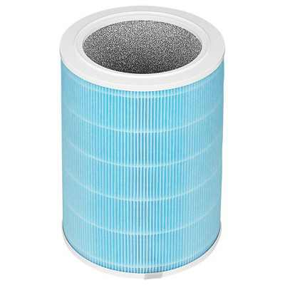 SAFE + MATE - True HEPA Air Filter Replacement - Air Cleaner and Odor Reducer - Blue - 1 Pack