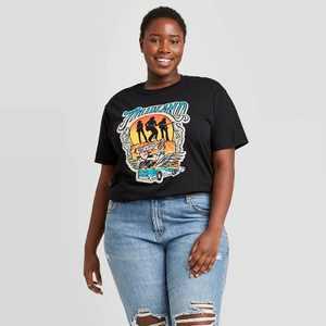 Women's Midland Band Short Sleeve Graphic T-Shirt - Black