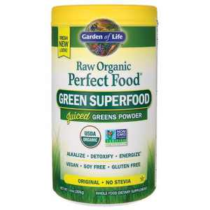 Garden of Life Greens And Superfood Supplements Raw Organic Perfect Food Green Superfood Powder - Original 7.4 oz.