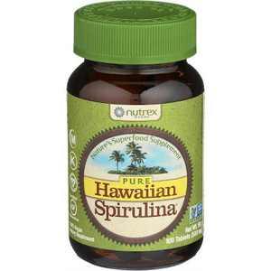 Nutrex Hawaii Greens And Superfood Supplements Pure Hawaiian Spirulina Tablet 100ct