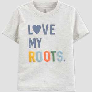 Toddler 'Love My Roots' T-Shirt - Just One You made by carter's Gray