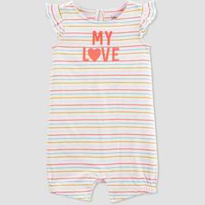 Baby Girls' 'My Love' Romper - Just One You made by carter's Yellow/Pink