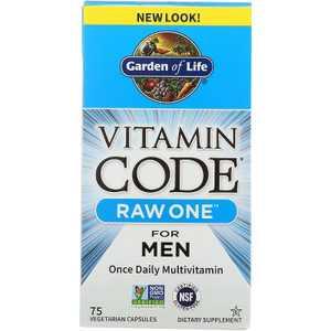 Garden of Life Multivitamins Vitamin Code Raw One for Men Capsule 75ct.