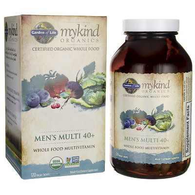 Garden of Life Multivitamins Mykind Organics Men's Multi 40+ Tablet 120ct