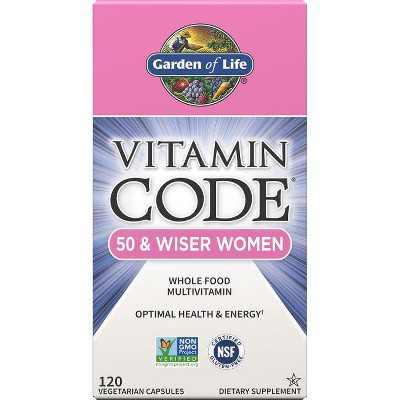 Garden of Life Multivitamins Vitamin Code 50 & Wiser Women Capsule 120ct