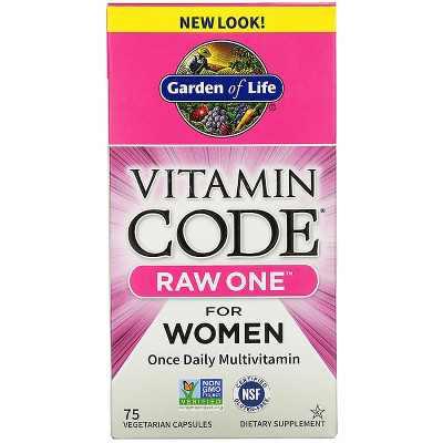 Garden of Life Multivitamins Vitamin Code Raw One for Women Capsule 75ct
