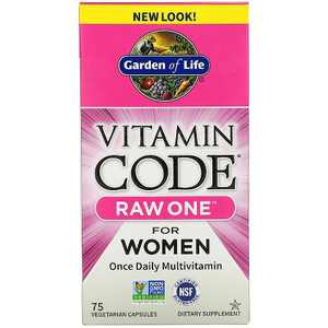Garden of Life Multivitamins Vitamin Code Raw One for Women Capsule 75ct