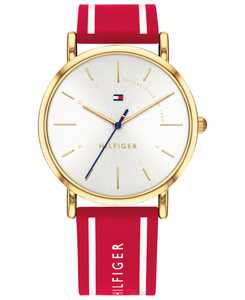 Women's  Red Silicone Strap Watch 35mm Created for Macy's