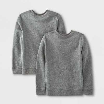 Boys' 2pk Fleece Pullover Crewneck Sweatshirt - Cat & Jack