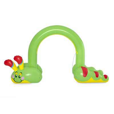 H2OGO! 52398E-BW Jumbo Inflatable Green Caterpillar Backyard Outdoor Fun Children Water Toys Sprinkler Arch for Boys and Girls, Kids Ages 2 and Up