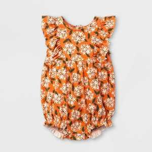 Baby Girls' Floral Knit Romper - Cat & Jack