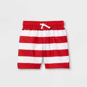 Toddler Boys' Striped Swim Trunks - Cat & Jack